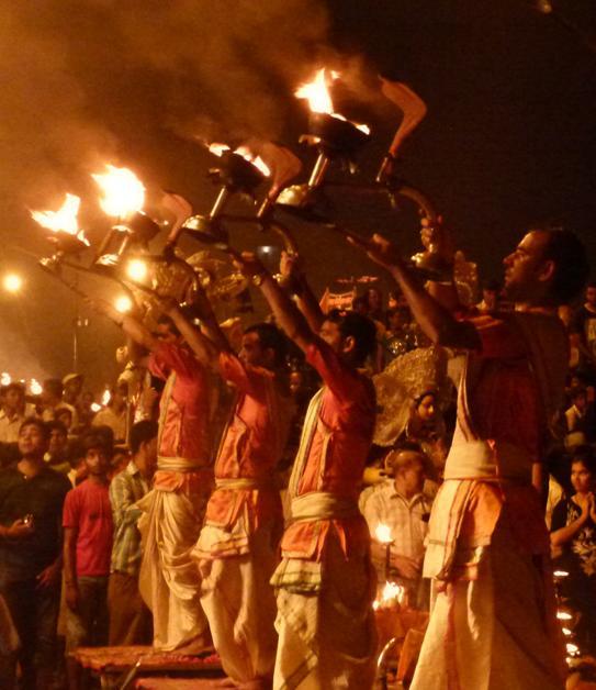 The Ganga Aarti In Varanasi My Favourite Things