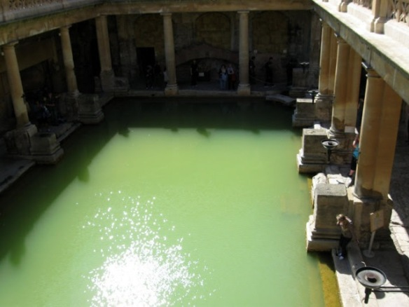 The Great Bath. Today, while visitors can see the Baths, they cannot enter the water, which is maintained at around 32°C.
