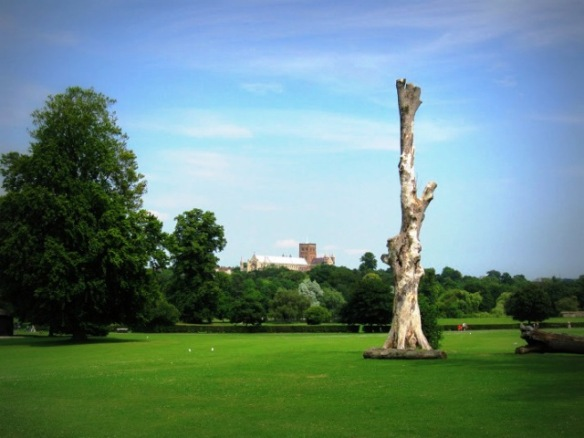 The wide, green expanse of the Verulamium Park, underneath which lies more of the undiscovered and unexcavated Roman Verulamium.