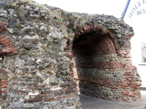 A pedestrian archway from Roman times