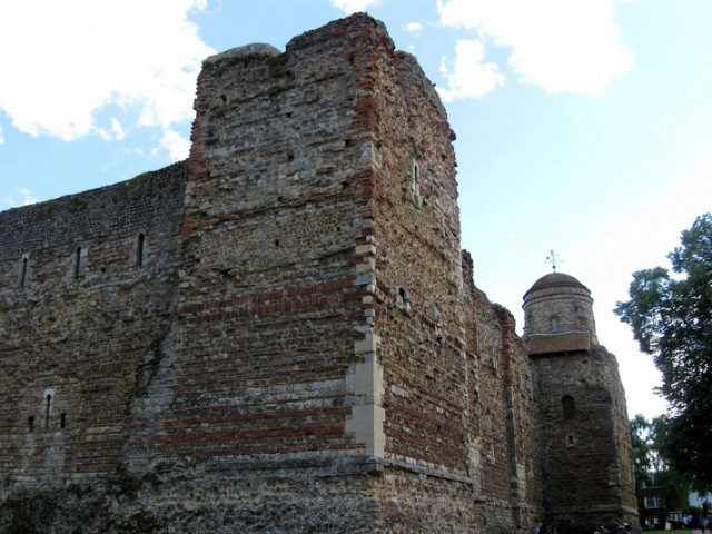 A Norman Castle built on the site and from the ruins of the Roman Temple of Claudius