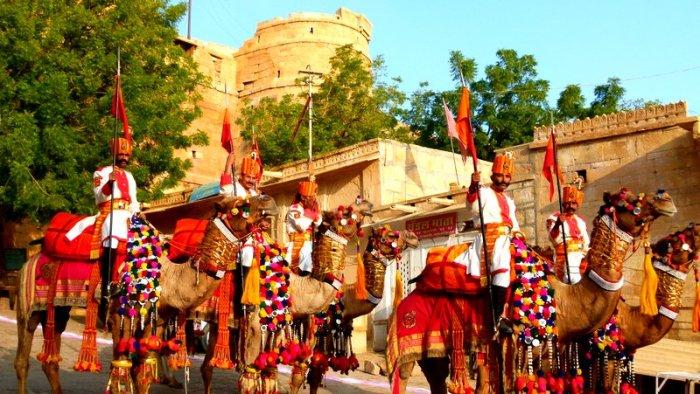 Ready, Steady, Go... At the Shobha Yatra of the Desert  Festival, Jaisalmer