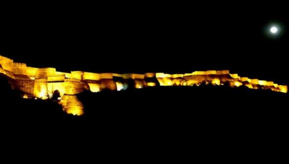 Kumbhalgarh Fort and the full moon