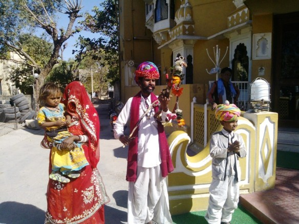 The musicians at Chittorgarh