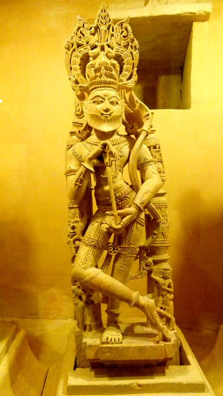 Bearded Rama, Sculpture, Jaisalmer Fort Palace Museum, Travel, Jaisalmer, Rajasthan