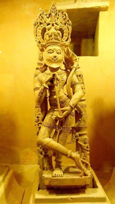 Bearded Rama, Sculpture, Jaisalmer Fort Palace Museum, Travel, Jaisalmer, Rajasthan