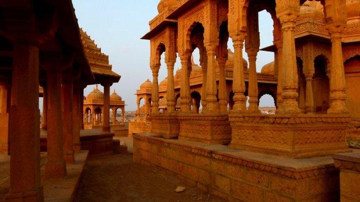 Hindu Cenotaphs, Rajasthan, Jaisalmer, Vyas Chhatri, Brahmin Crematoriumsthan, Jaisalmer, Vyas Chhatri