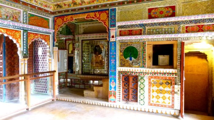 Room of glass and mirrors in the Patwon ki Haveli