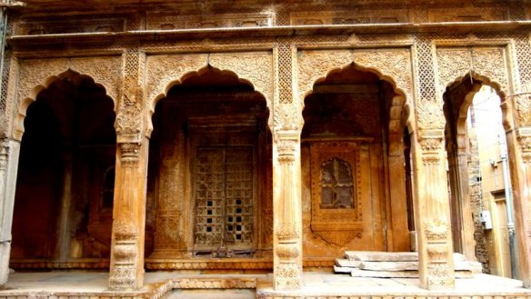 An abandoned Haveli in Jaisalmer
