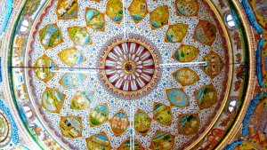 The painted ceiling at the kaner, Rajasthan, Travel