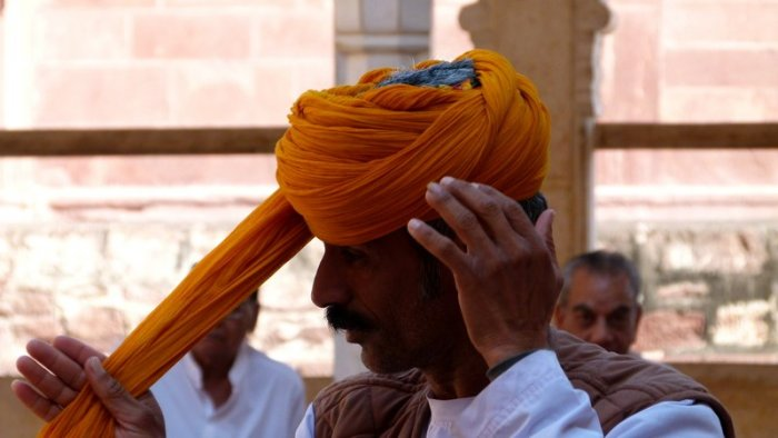 How to Tie a turban, Mehrangarh Fort, Jodhpur