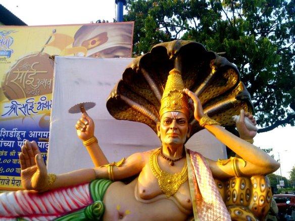 Lord Vishnu. Sheshanag