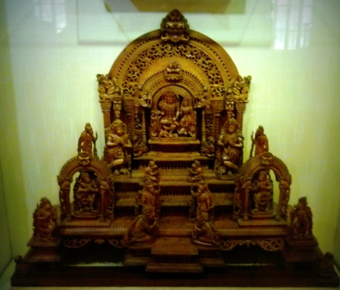 Rama's coronation. Sandalwood, 18th Century, Trivandrum