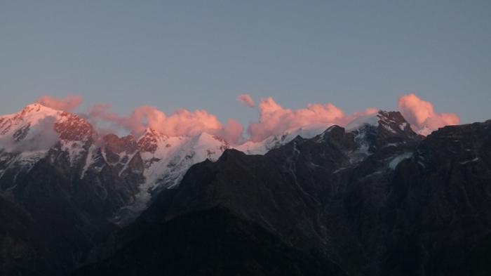 Kinner Kailash, Sunset, Kalpa, Himachal Pradesh, The Grand Shanri-La