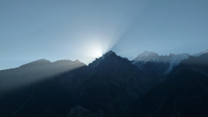 Kinner Kailash, sunrise, Kalpa, Himachal Pradesh, The Grand Shanri-La