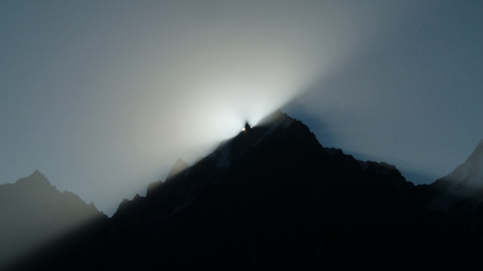 Kinner Kailash, sunrise, Kalpa, Himachal Pradesh, The Grand Shanri-La