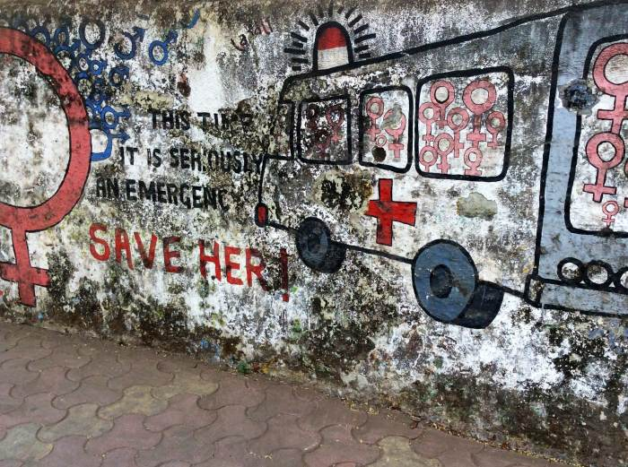 Laadli Girl Child Campaign, Bandra, Street Art, Hill Road, Mumbai