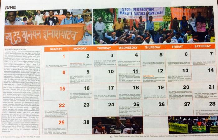 Social Movements Calendar 2014, Intercultural resources, People's struggles, social issues, calendar
