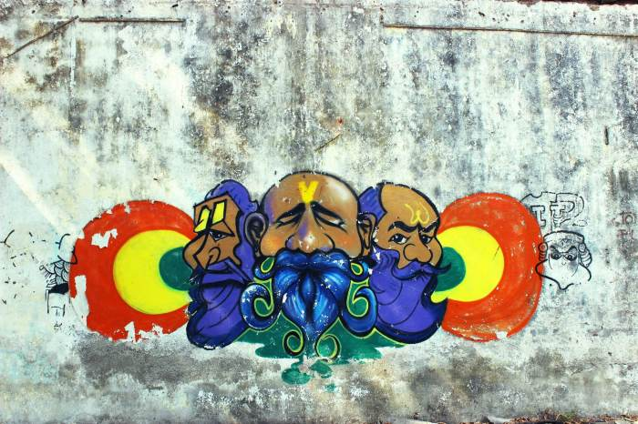 Graffiti, street art, Reay Road, Mumbai, abandoned warehouse