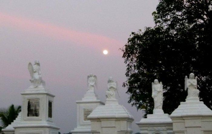 Aldona, Corjuem Fort, Noth Goa, Mapusa River, St. Thomas Church, Aldona Cemetery