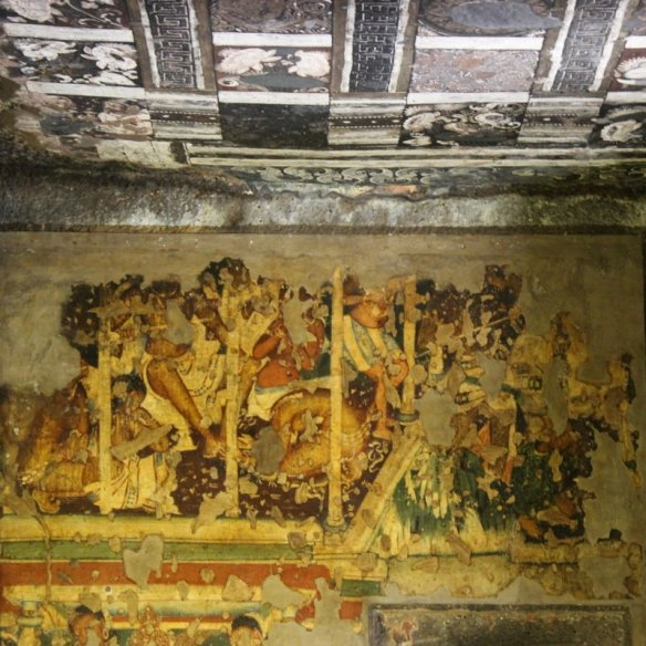 Ajanta caves where all the fine arts converge my for Ajanta mural painting