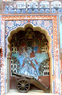 Dundlod, Painted Towns of Shekhawati, Fresco, Art Gallery, Painting, Heritage, Travel, Rajasthan, Goenka