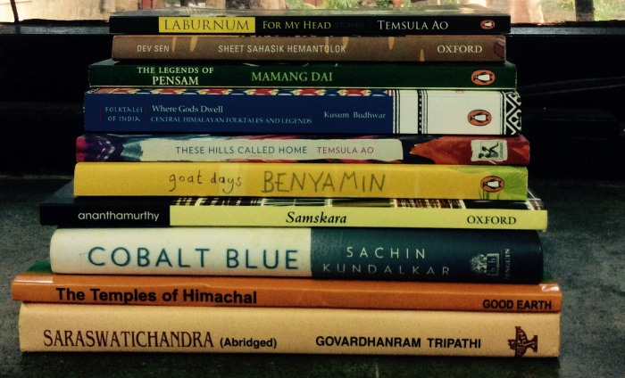 #TSBCReads India, Book pile, Books from India and on India, To be Read Books