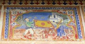 A bandhini or tie-and-dye duppatta being made (Bhagaton ki Haveli)
