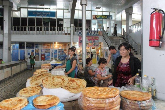 Local bread at the bazaar