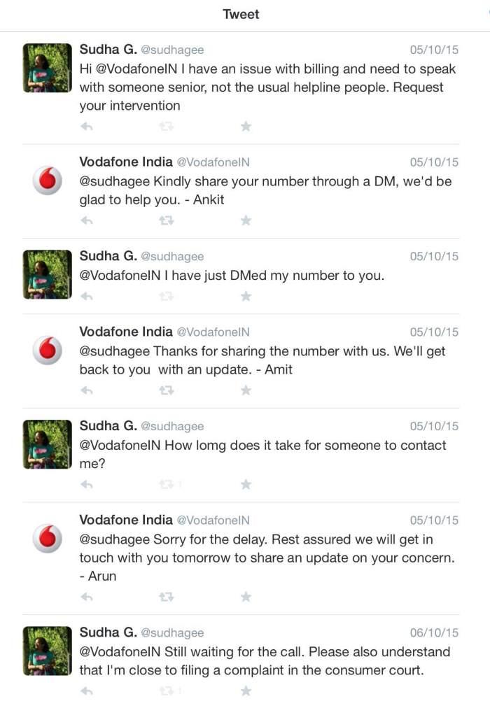 Vodafone Tweets
