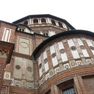 "UNESCO World Heritage Site, Historical Monument, Architecture, Heritage, Church and Dominican Convent of Santa Maria delle Grazie with ""The Last Supper"" by Leonardo da Vinci, Italy"