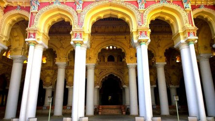 The beautiful entrance to the portion known as the throne room, also known as the Swarga vilasam or the celestial pavilion