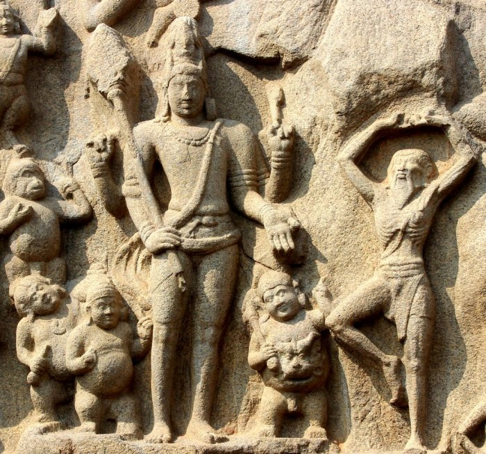 Mahabalipuram, UNESCO World Heritage Site, Arjuna's Penance, Descent Of Ganga, Relief Panel, Narrative Networks