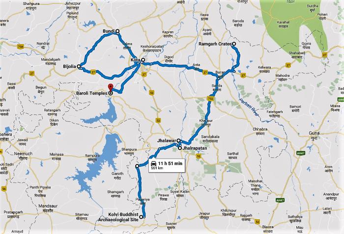 The hadoti trip planner my favourite things hadoti map road trip travel rajasthan hadoti trip google map gumiabroncs Image collections